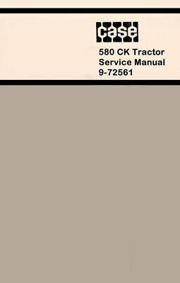 Case 580ck 580 Ck Loader And Backhoe Service Manual