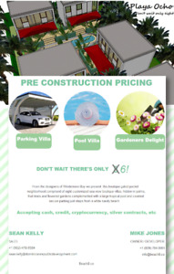 Villas by the Beach - Dominican Republic - Pre Construct Pricing