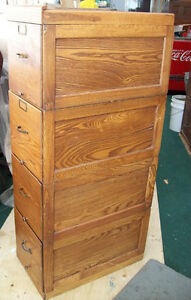 ANTIQUE OAK STACKING STACKER FILE FILING CABINET CIRCA 1910-1920