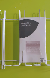 Uncupboard Wine or Gin glass shelf rack (BNIP)