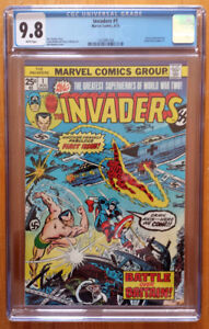 Invaders #1 CGC 9.8 White Pages **Key Book**