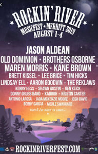 Rocking River Music fest! Full access passes with camping