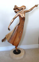 Bronze Sculpture Dancing Figure by Esther Wertheimer   Artist: