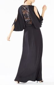 Size 4 Black BCBG Gown - Perfect Condition