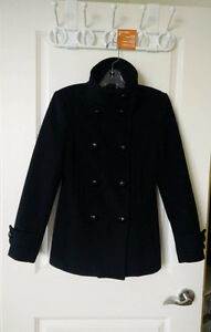 Aritzia Babaton Howell Wool Coat BLACK size SMALL