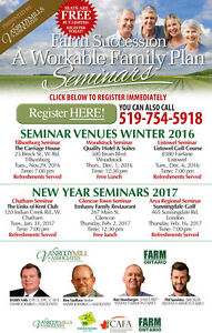 Should I Sell the Farm? FREE SEMINAR (Glencoe) Sarnia Sarnia Area image 1