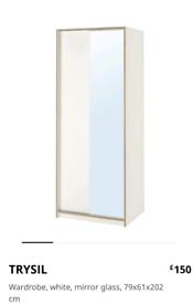 Ikea Trysil Mirrored Wardrope