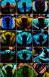 LED RAVE MASK - Perfect for Halloween. Stay visible. Stay safe.