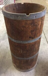 Old Tall Antique Barrel