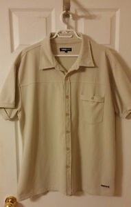 Short Sleeve Shirt - Beige - Excellent Used Condition