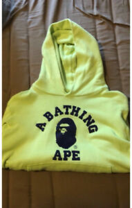 Lime Green Bape Hoodie Size Small