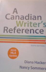 TEXTBOOK A CANADIAN WRITER'S REFRENCES SIXTH EDITION