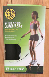 Golds Gym Beaded 9' Jump Rope in Box