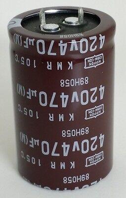 470uf 420v Radial Electrolytic Capacitors Snap In Chemi-con 3 Lot