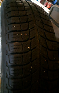 Michelin X Ice -  Used set of four winter tires on rims