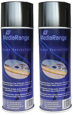 2 x MediaRange Color Protection Spray 400 ml Schutz Colour Spray Fixierspray