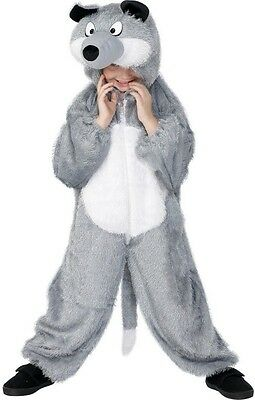 Childs Girls Boys Big Bad Wolf Animal Fairy Tale Fancy Dress Costume Outfit - Big Bad Wolf Girl Costume