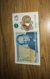 £5 Note AK46 open to all offers