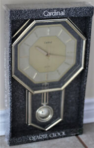 NEW CARDINAL QUARTZ PENDULUM WALL CLOCK
