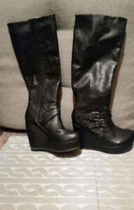 Aldo leather knee boots