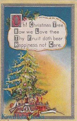 Christmas Tree Poem (Postcard Christmas Oh Christmas Tree Poem)