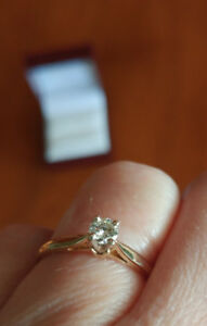 Beautiful solitaire ring