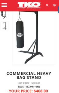 TKO punching bag stand only