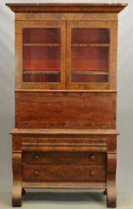 Secrétaire bibliothèque ANTIQUE Empire vers 1850
