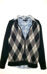 Tommy Hilfiger medium Argyle zipper sweater & Shirt