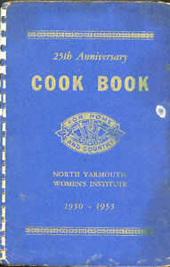 25th ANNIVERSARY COOK BOOK- North Yarmouth Women's Institute