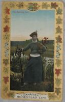 CANADIAN HOMESTEAD LIFE, THE SPORTING GIRL POSTCARD, 1909
