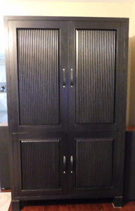 Modern Black Wood Cabinet/Armoire from Pier 1 Imports