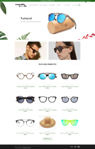 Online Wooden Sunglasses Drop-Shipping Business