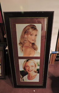 Lot of 8 Beaded Black Wood Picture frames with glass face Celebs