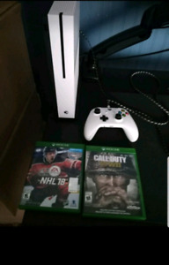 XBOX 1S  WITH XBOX GOLD FREE. . 2 GAMES **PRICED FOR QUICK SALE