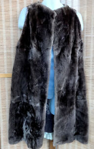 REAL FUR INSERT LINING WOMANS WINTER COAT - LINER - LONG VEST