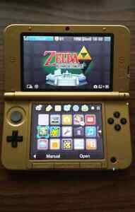 Nintendo 3DS XL Zelda Triforce LE, with Link Between Worlds, etc
