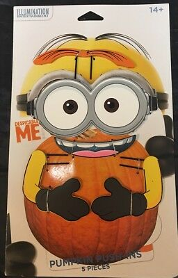 Despicable Me Minion 5 piece pumpkin push-ins - ages 14+ - HALLOWEEN NIP - Pumpkin Push Ins