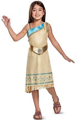 Pocahontas Deluxe Disney Native American Fancy Dress Up Halloween Child Costume