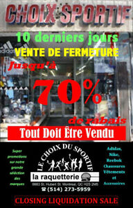 Sporting Goods (Vente De Fermature)