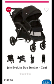 Double Pushchair - Joie evolite duo stroller
