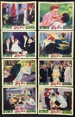 The Lady Eve Movie Poster Lobby Card Set - Stanwyck - Fonda  *Hollywood Posters*