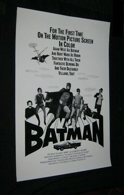 Original 1966 Military Theatre Poster BATMAN Adam West BURT WARD Gorshin ROMERO