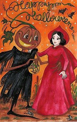 1.5x2 DOLLHOUSE MINIATURE PRINT OF PAINTING RYTA 1:12 SCALE HALLOWEEN WITCH ARTI (Arti Halloween)