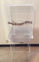 Medium-Small White Bird Cage *Like New Condition*