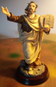 Ornament - Biblical Moses with 10 commandments slab - $50