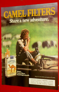 1986 CAMEL FILTER CIGARETTES RETRO AMERICAN AD - ANONCE TABAC