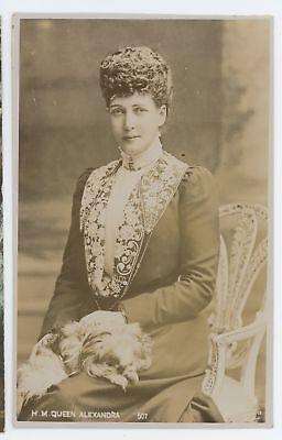 RPPC HM Queen Alexandra of Denmark Vintage Real Photo Danish Monarchy Postcard