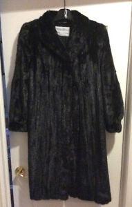 Ladies Black Full Length Mink Coat - Size 16-18 Custom Made London Ontario image 1