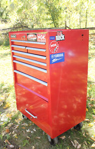 Red -  International Tool Chest - locking, multi-drawer, casters